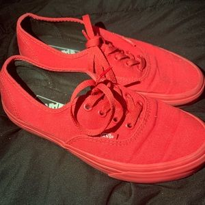 Vans used a couple times but look new